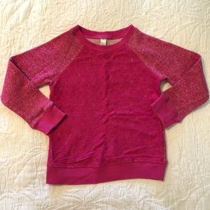 Cherokee lace front sweatshirt, fuchsia pink